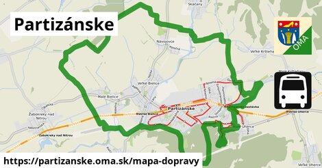 ikona Partizánske: 25km trás mapa-dopravy  partizanske
