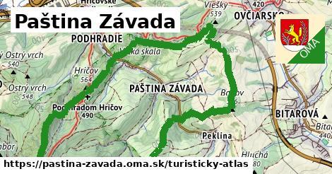 ikona Turistická mapa turisticky-atlas  pastina-zavada