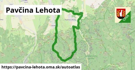 ikona Mapa autoatlas  pavcina-lehota