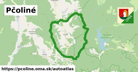 ikona Mapa autoatlas  pcoline