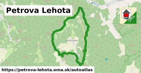ikona Mapa autoatlas  petrova-lehota