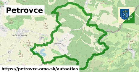 ikona Mapa autoatlas  petrovce