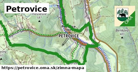 ikona Petrovice: 2,4km trás zimna-mapa  petrovice