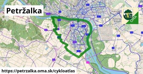 ikona Petržalka: 164km trás cykloatlas  petrzalka