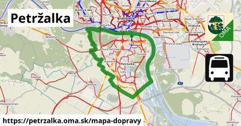 ikona Petržalka: 429km trás mapa-dopravy  petrzalka