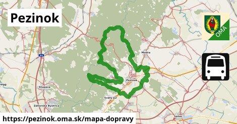 ikona Pezinok: 354km trás mapa-dopravy  pezinok