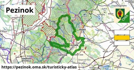 ikona Pezinok: 62km trás turisticky-atlas  pezinok