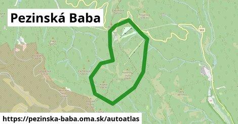 ikona Mapa autoatlas  pezinska-baba