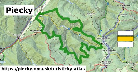 ikona Turistická mapa turisticky-atlas  piecky