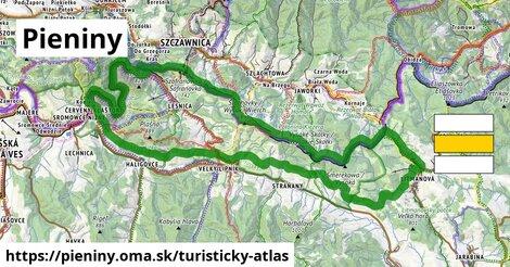 ikona Turistická mapa turisticky-atlas  pieniny