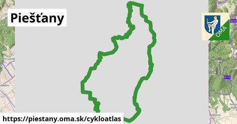 ikona Piešťany: 24km trás cykloatlas  piestany