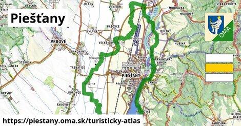 ikona Piešťany: 10,7km trás turisticky-atlas  piestany