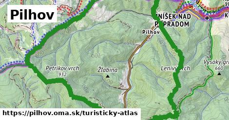 ikona Pilhov: 32m trás turisticky-atlas  pilhov