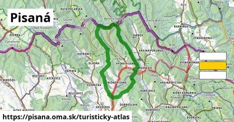 ikona Turistická mapa turisticky-atlas  pisana