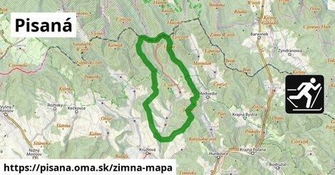 ikona Pisaná: 4,7km trás zimna-mapa  pisana
