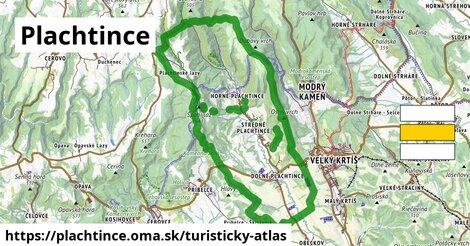 ikona Plachtince: 18km trás turisticky-atlas  plachtince