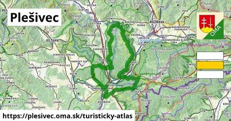ikona Plešivec: 48km trás turisticky-atlas  plesivec