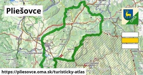 ikona Pliešovce: 11,7km trás turisticky-atlas  pliesovce