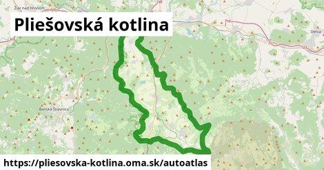 ikona Mapa autoatlas  pliesovska-kotlina
