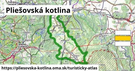 ikona Turistická mapa turisticky-atlas  pliesovska-kotlina