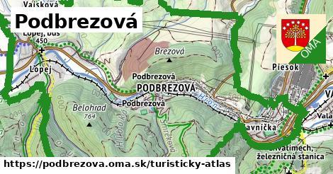 ikona Podbrezová: 6,6km trás turisticky-atlas  podbrezova
