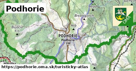ikona Turistická mapa turisticky-atlas  podhorie