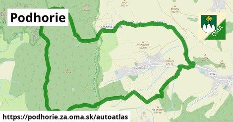 ikona Mapa autoatlas  podhorie.za