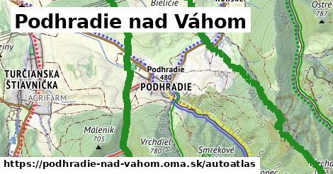 ikona Mapa autoatlas  podhradie-nad-vahom