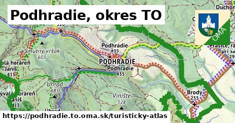 ikona Podhradie, okres TO: 32km trás turisticky-atlas  podhradie.to