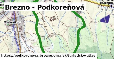 ikona Brezno - Podkoreňová: 0m trás turisticky-atlas v podkorenova.brezno