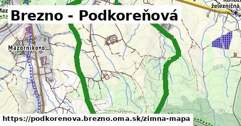 ikona Brezno - Podkoreňová: 0m trás zimna-mapa v podkorenova.brezno