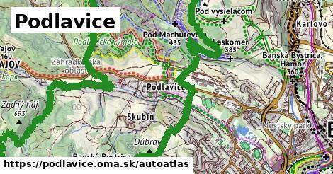 ikona Mapa autoatlas  podlavice