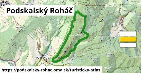ikona Podskalský Roháč: 202m trás turisticky-atlas  podskalsky-rohac
