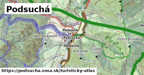 ikona Turistická mapa turisticky-atlas  podsucha