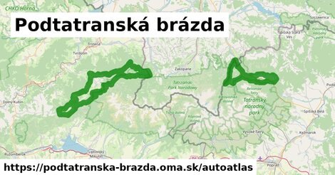 ikona Mapa autoatlas  podtatranska-brazda