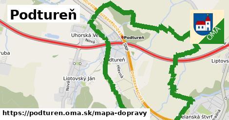 ikona Mapa dopravy mapa-dopravy v podturen