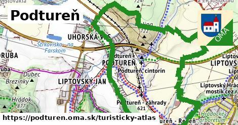ikona Turistická mapa turisticky-atlas v podturen