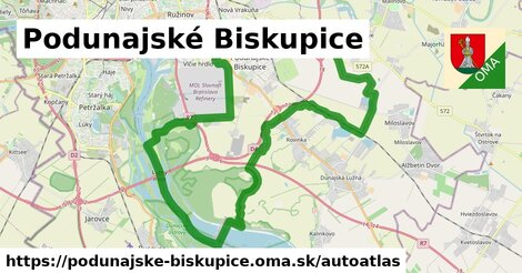 ikona Mapa autoatlas  podunajske-biskupice