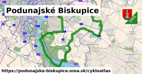 ikona Podunajské Biskupice: 45km trás cykloatlas  podunajske-biskupice
