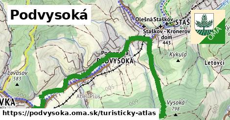 ikona Turistická mapa turisticky-atlas  podvysoka