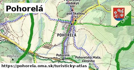 ikona Turistická mapa turisticky-atlas  pohorela