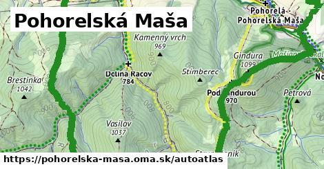 ikona Mapa autoatlas  pohorelska-masa