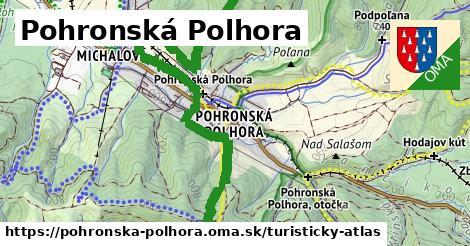 ikona Pohronská Polhora: 32km trás turisticky-atlas  pohronska-polhora