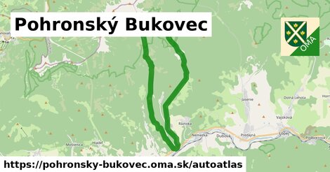 ikona Mapa autoatlas  pohronsky-bukovec