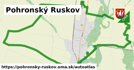 ikona Mapa autoatlas  pohronsky-ruskov