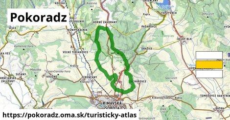 ikona Pokoradz: 8,9km trás turisticky-atlas  pokoradz