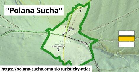 ikona Turistická mapa turisticky-atlas  polana-sucha