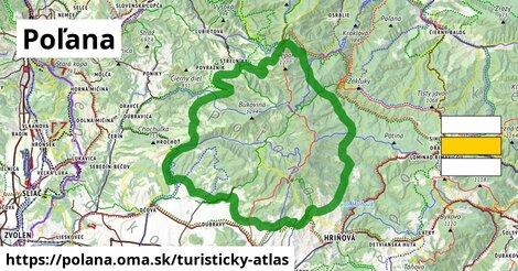 ikona Turistická mapa turisticky-atlas  polana