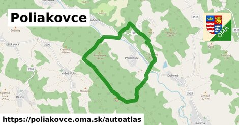 ikona Mapa autoatlas  poliakovce