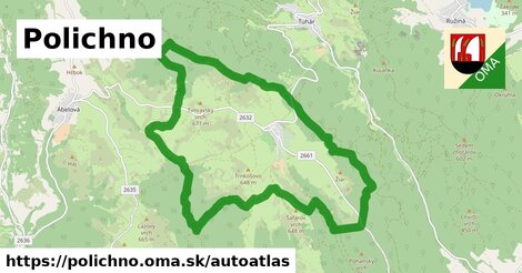 ikona Mapa autoatlas  polichno
